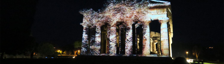 video mapping Paestum